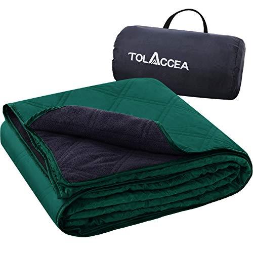 Tolaccea Warme Fleece Decke Outdoor,Picknickdecke Wasserdicht,Tragbar Camping Decke,Sandfrei Stranddecke,Ideal für Camping Picknicks Stadion Reise Cars Hunde und Heimnutzung