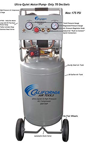 California Air Tools CAT-20015HPAD Ultra Quiet & Oil-Free 1.5 hp, 20 gallon 175 PSI Two Stage Air Compressor with Automatic Drain Valve