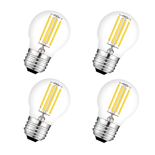 Lampadine LED E27 a Filamento G45 450Lm 4W Equivalenti a 40W Mini Globo Lampada Trasparente Luce Bianca Calda 2700K non Dimmerabile 4 Pezzi