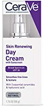 CeraVe Anti Aging Face Cream with SPF | 1.76 Ounce | Anti Wrinkle Retinol Cream and Face Sunscreen | Fragrance Free