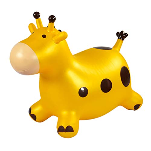 NUOBESTY Thick Bouncing Mount Hopper Horse Inflatable Jumping Animal Toy with Pump for Baby Kid Home Outdoor
