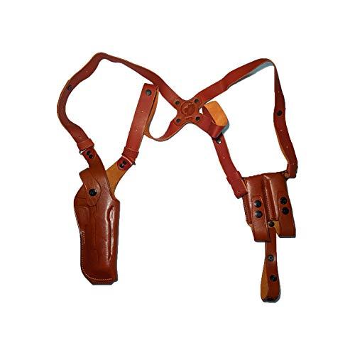 Leather Vertical Shoulder Holster for COLT 1911 (Brown)