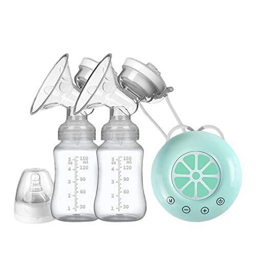 Frpower Elektrische Milchpumpe Melken Milch Collector Mutter Und Kind Versorgt USB Elektrische Milchpumpe Mit Baby-Milchflasche Kälte-Hitze-Auflage-Nippel,Blau