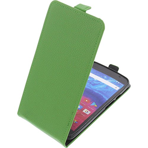 foto-kontor Tasche für Archos Core 55 Smartphone Flipstyle Schutz Hülle grün