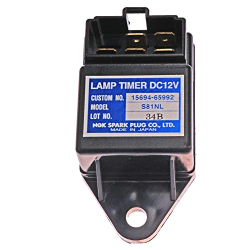 Mover Parts NGK Lamp Timer 12V Time Relay for Kubota 15694-65992 15694-65990 S81NL Relay