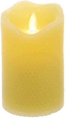 Kurt S. Adler 5-Inch LED Honeycomb Flicker Flame Battery-Operated Candle, Multi