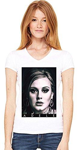 Adele Portrait Photo Famous Merchandise Womens V-neck T-shirt XX-Large