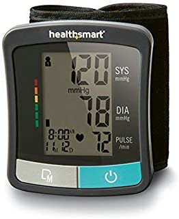HealthSmart Standard Series Wrist Blood Pressure Monitor, Clinically Accurate LCD Display Digital Blood Pressure Monitor, Electronic Blood Pressure Monitor with 2 Person Memory by HealthSmart