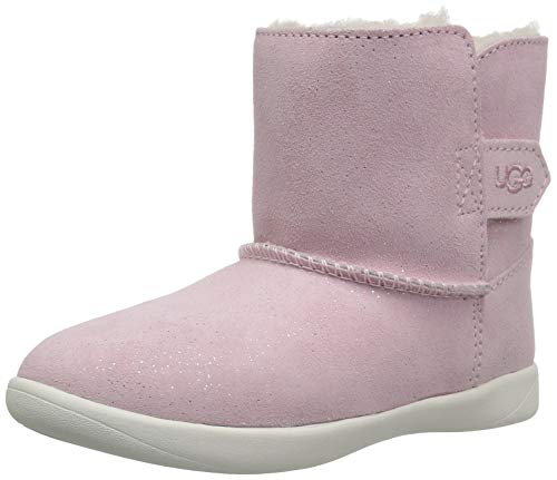 UGG Baby Keelan Sparkle Ankle Boot, Baby Pink, 0/1 M US Infant