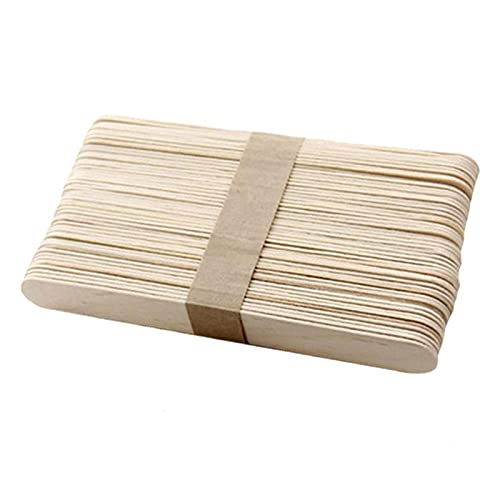 Multi-purpose 50pcs Popsicle Stick Ice Cube Maker Cream Tools Model Special-Purpose Wooden Craft Stick Lollipop Mold Accessories for Popsicle Sticks Plants Identifiers ( Color : Wooden 65mm )