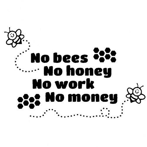 CTMNB Autosticker 18.2CM*11.6CM imker Honing Auto Sticker Geen Bijen Geen Honing Leuke Vinyl Decal Zwart/Zilver