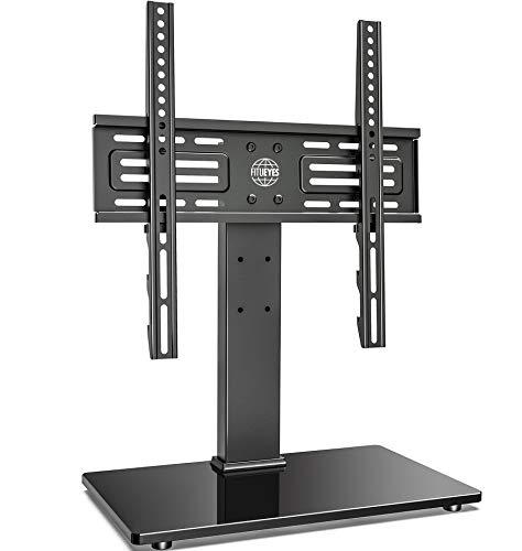 FITUEYES Supporto da tavolo universale per TV da 27 a 55  schermi piatti al plasma LCD OLED LED da 27 a 55  Altezze Gestione cavi regolabile e contenimento 40 kg   88 libbre e max. VESA 400x400mm