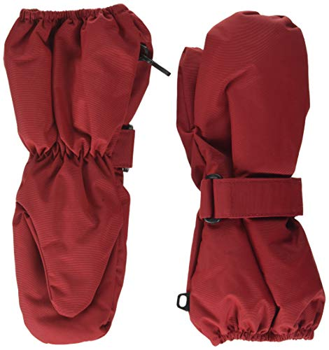 MINYMO Unisex-Child Tussor solid Mittens, Rio Red, 1