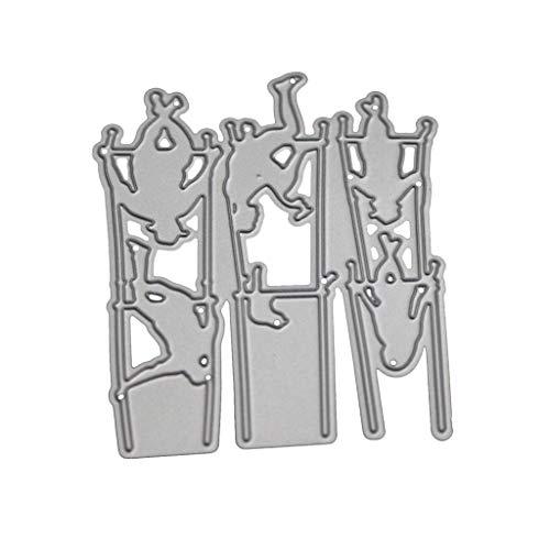 Ncbvixsw Junge Schaukel DIY Stanzschablone, Metall Stanzformen Schablonen Scrapbooking Prägeschablonen, Handwerk Prägen Papier DIY Herstellung Geschenk Cutting Dies Neue R