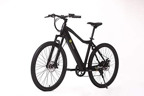 E-Trends Unisex's Trekker Ebike E-Bike, Black, One siz