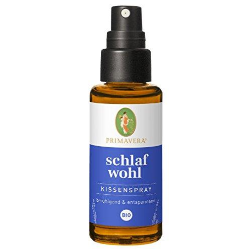 Primavera Schlafwohl Kissenspray Bio 30 ml - Textil- und Raumduft mit Lavendel, Vanille und Neroli - Aromatherapie - beruhigend - vegan