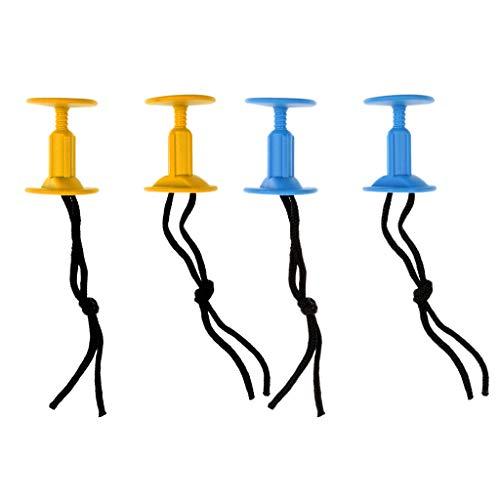 IPOTCH 2 Pares de Enchufes de Cuerdas para Tablas de Surf Bodyboard con Cuerdas Roscadas