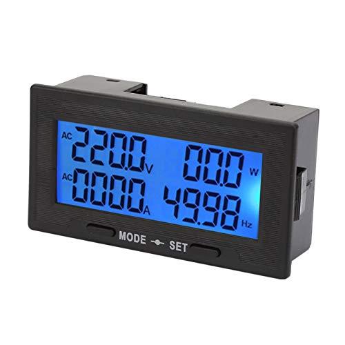 con función de alarma Multifuncional AC 0~100A Medidor de voltímetro digital, Medidor de probador de voltaje de voltímetro digital, Regulador de voltaje para equipos de prueba de