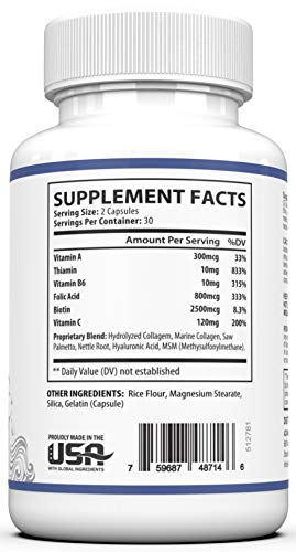 41mm2+yInLL - Dermal Repair Complex Skin Supplement - Advanced Collagen, Hyaluronic Acid and Vitamin C for Anti-Aging & Skin Health Support 60 Capsules