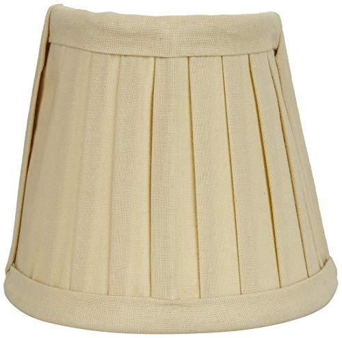 Better & Best lampenkap van katoen, met bevestigingsklem voor kaarslampen, halve maanvorm, smal, 12 x 6,5 x 10 cm, geel