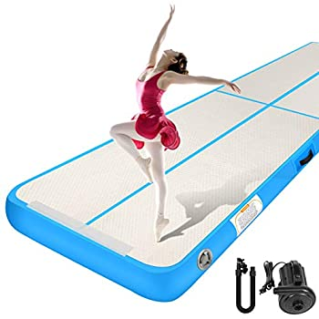 Inflatable Air Mat Sailnovo Gymnastics Air Tumbling Mat 10ft 13ft 16ft 20ft 4in 8in Thickness Tumble Track Floor Mats with Electric Pump for Cheerleading Training Yoga Outdoor Home