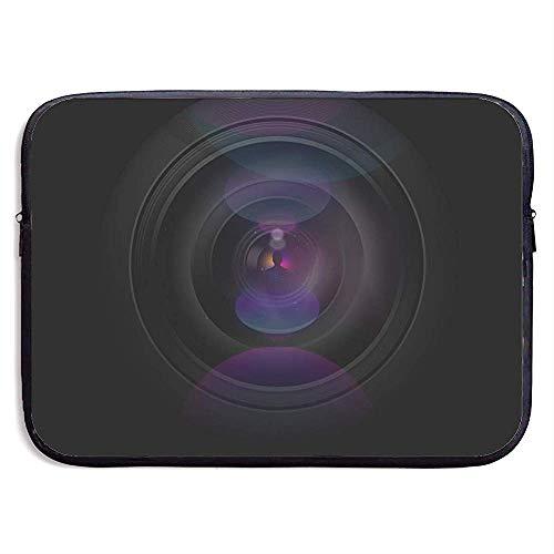Zakelijke koffer mouw videocamera artistieke lens draagbare laptop-beschermtas