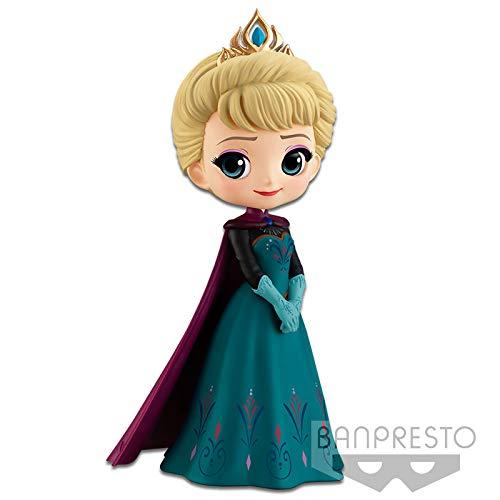 Disney Elsa Figura QPOSKET Anna 14 CM, Multicolor (1)