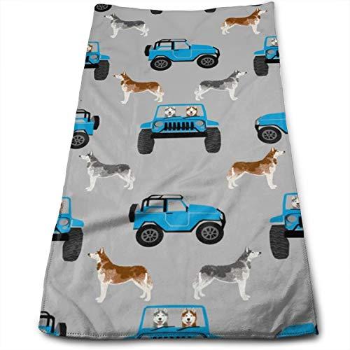 Huskies Avontuur Honden Hond Husky Originele Haar Handdoek Ultra Absorbens & Snelle Drogen Microvezel Handdoek Voor Fijn & Delicaat Haar (11.8 X 27.5 Inch)