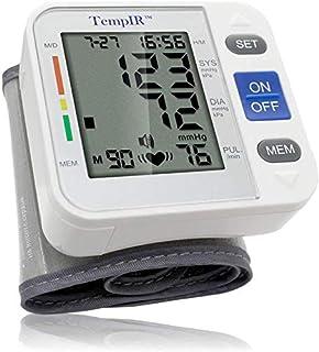 Tensiometros Muñeca Monitora de Presión Arterial Digital con Detector de Ritmo Cardíaco, Tensiometro Electrónicos, Gran Pantalla LCD de Irregular Indicador del Latido del Corazón Garantía Ilimitada