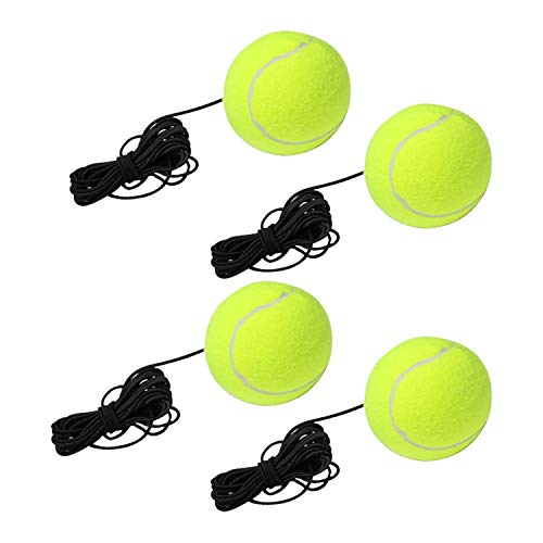 URBEST Tennis Trainer Balls with String 4 Packs, S...