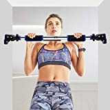 Pull Up Bar For Doorway, LETUZI Door Exercise Chin up Bar No Screw Installation Adjustable 25-37.8 Inches Width Locking Mechanism Exercise Bar Heavy Duty Upper Body Workout Bar for Home Gym Fitness