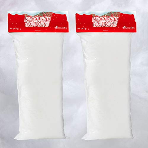 Super Realistic Fake Indoor Snow Blanket. 30 sqft Cotton-Like Fluffy Snow for Winter Mantle Village, Nativity and Easy Christmas Display Decoration. Hypoallergenic, Flame Resistant and Eco Friendly