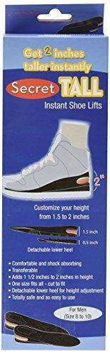 Secret Tall Instant Shoe Lifts- For Men
