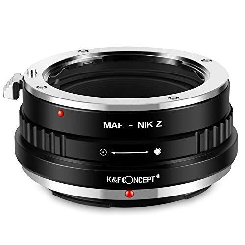 K&F Concept- Adaptador Lentes para Sony Alpha A-Mount (y Minolta AF) para...
