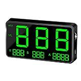 SODIAL Indicateur de Vitesse Hud Affichage Tête Haute Vitesse de Conduite Digital C80 GPS Universel...