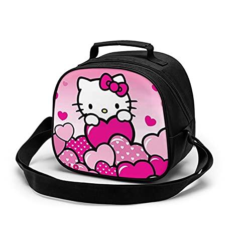 Hello Kitty - Bolsa de comida para niños, con aislamiento, bolsa de almuerzo reutilizable para niños y niñas
