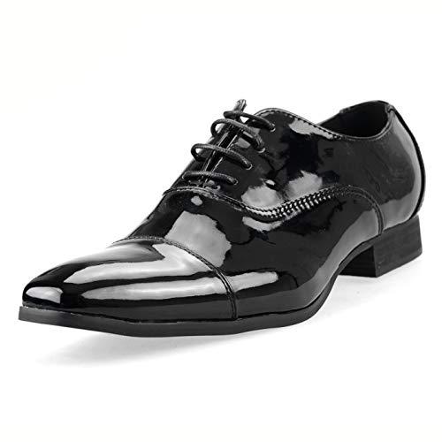 ブラックエナメル 39(24.5cm) スニーカー カジュアルシューズ カジュアル シューズ チャッカブーツ デザートブーツ ワークブーツ ショートブーツ カジュアルブーツ メンズ レースアップシューズ レースアップ 靴 ビジネスシューズ ビジネス シュー