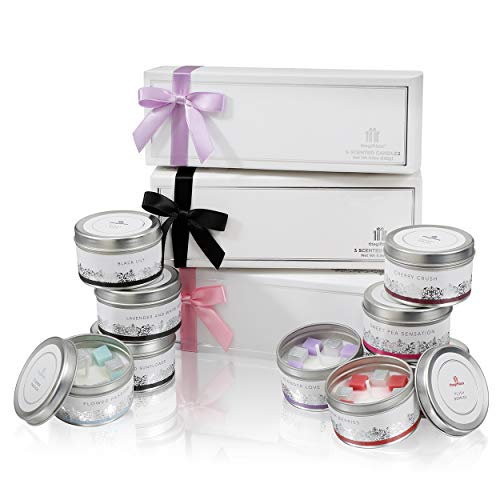 the gift box Scented Candle Value Bundle Gifts x 3 for Women and Ladies Gifts for Mum, Mothers and Birthday Gifts. Presents for Her (Sugarstar Bundle)