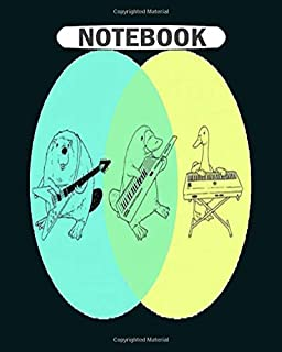 Notebook: keytar platypus venn diagram  College Ruled - 50 sheets, 100 pages - 8 x 10 inches