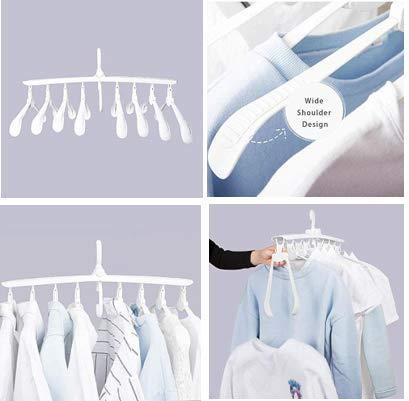 CLAYCU Robuste platzsparende Kleiderbügel - faltbares Design & 360°-Drehung - faltenfreie Kleidung