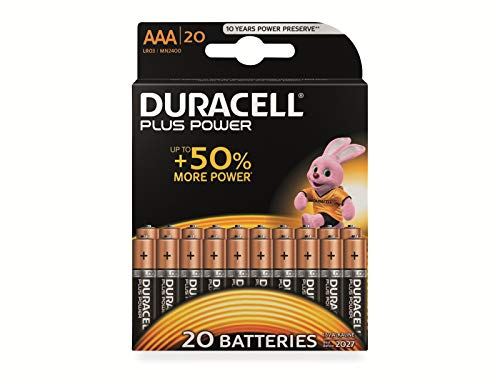 Duracell Plus Power Micro (AAA)-Batterie Alkali-Mangan 1.5 V 20 St.