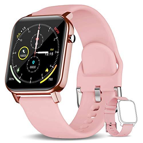 KOSPET GTO Smartwatch, 1,4 Zoll Touchscreen Fitness Armbanduhr, Fitness Tracker mit 31 Sportmodi, IP68 Wasserdichter Aktivitäts Tracker mit Blutsauerstoff, Herzfrequenz Schlafmonitor für Damen Herren