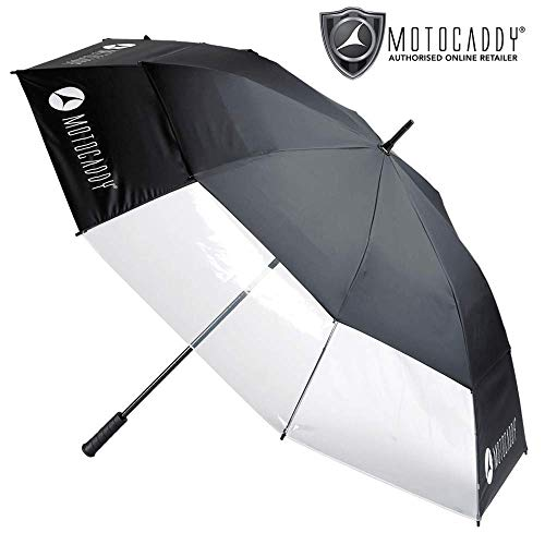 Motocaddy CLEARVIEW VENTED WIND RESISTANT GOLF UMBRELLA/NEW FOR 2019