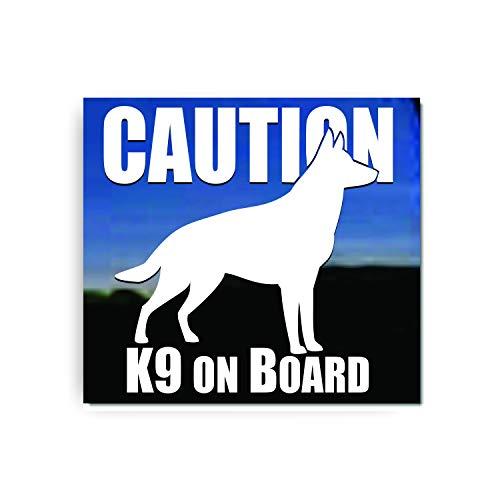 Caution K9 Onboard ~ German Shepherd Vinyl Window Decal Sticker