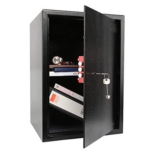 YJF-ZWS Cassaforte per Ufficio Domestico 43L 50 * 35 * 31 Cm, Cassetta di Sicurezza per Armadietto Ignifugo E Impermeabile con Chiave, per Armadietto per Pistole Gioielli con Denaro Contante