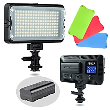 VILTROX VL-162T CRI95+ LED Video Light Portable Camera Photo Light Panel Dimmable for DSLR Camera Camcorder with Battery Charger High Brightness 3300K-5600K Bi-Color White Filter and LCD Display