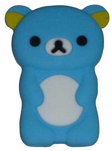 Phaetonnice 3D Cute Bear Silicone Skin Case Cover for Apple iPod Nano 7th Generation 7G - Sky Blue