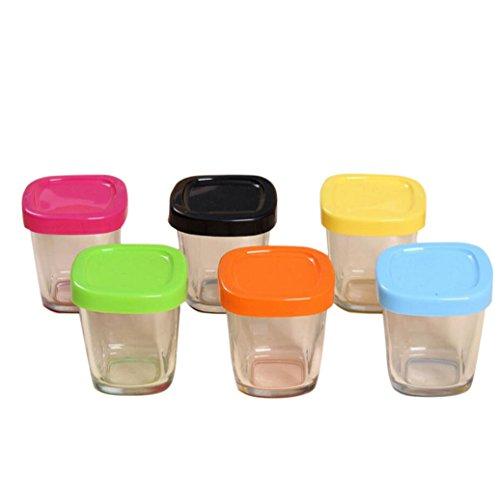 Vlunt tarros de yaourts 150ml Copa de Pudding de cristal resistente al calor 150ml (6 pcs)