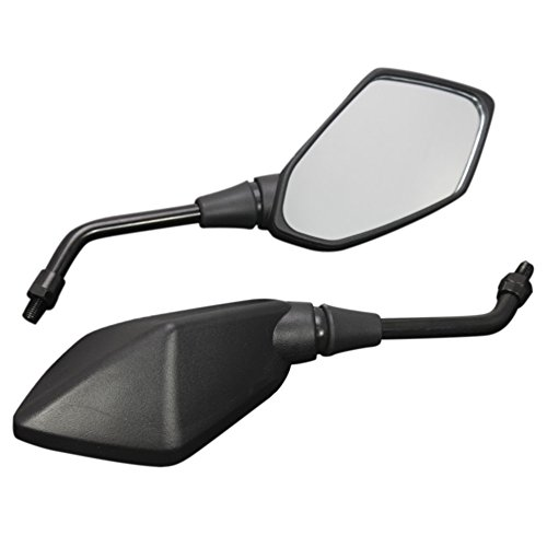 KKmoon Specchietto Eetrovisore per Moto Universale, 2 Pezzi Accessori Modificati per Specchietti Retrovisori in Lega di Alluminio per 8mm 10mm Manubrio Diametro Esterno