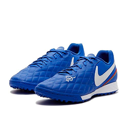 Nike Legend 7 Academy 10R TF - Scarpa Calcetto Uomo Turf (Game Royal/White) (Numeric_42_Point_5)